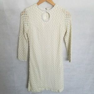 Women's 1960s Cream Evening Mini Dress